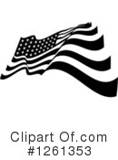 American Flag Clipart #1261353 by Chromaco