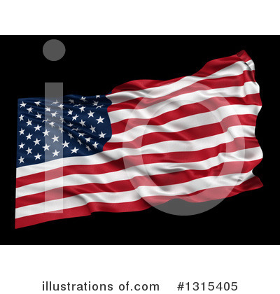 American Flag Clipart #1315405 by stockillustrations