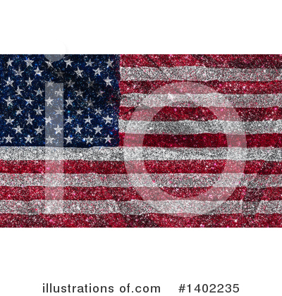 Royalty-Free (RF) American Flag Clipart Illustration by KJ Pargeter - Stock Sample #1402235