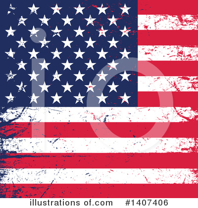 Royalty-Free (RF) American Flag Clipart Illustration by KJ Pargeter - Stock Sample #1407406