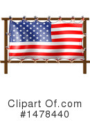 American Flag Clipart #1478440 by Graphics RF