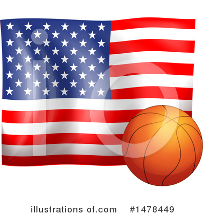 American Flag Clipart #1478449 by Graphics RF