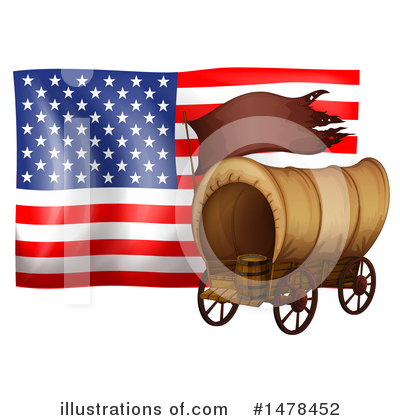 American Flag Clipart #1478452 by Graphics RF