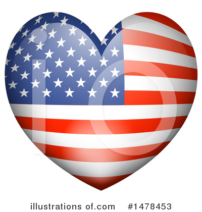 American Flag Clipart #1478453 by Graphics RF