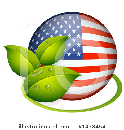 American Flag Clipart #1478454 by Graphics RF
