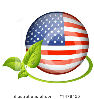 American Flag Clipart #1478455 by Graphics RF