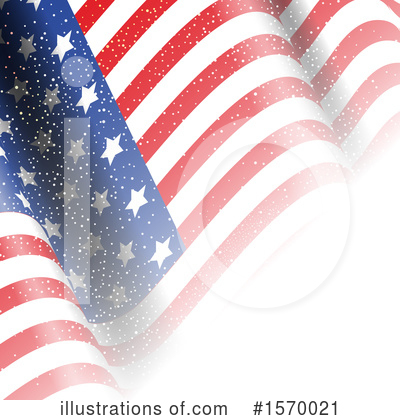Royalty-Free (RF) American Flag Clipart Illustration by KJ Pargeter - Stock Sample #1570021