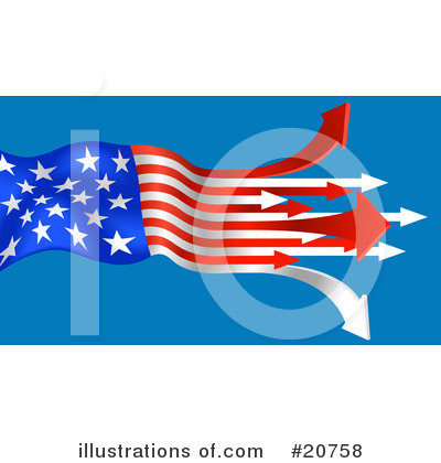 American Flag Clipart #20758 by AtStockIllustration