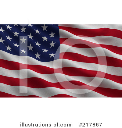 American Flag Clipart #217867 by stockillustrations