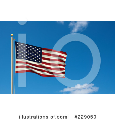 American Flag Clipart #229050 by stockillustrations