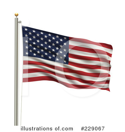 American Flag Clipart #229067 by stockillustrations