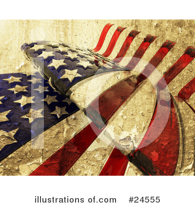 Royalty-Free (RF) American Flag Clipart Illustration by KJ Pargeter - Stock Sample #24555