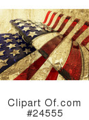 Royalty-Free (RF) American Flag Clipart Illustration #24555