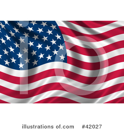 American Flag Clipart #42027 by stockillustrations