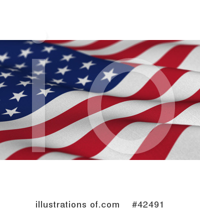 American Flag Clipart #42491 by stockillustrations