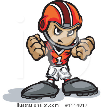 Football Player Clipart #1114817 by Chromaco