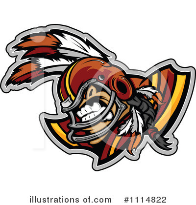 Football Player Clipart #1114822 by Chromaco