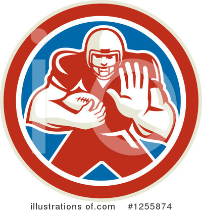 American Football Clipart #1255874 by patrimonio