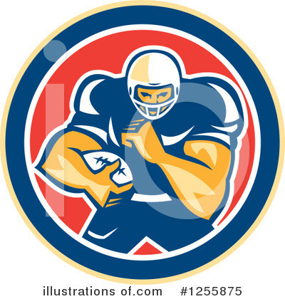 American Football Clipart #1255875 by patrimonio