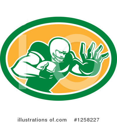 American Football Clipart #1258227 by patrimonio