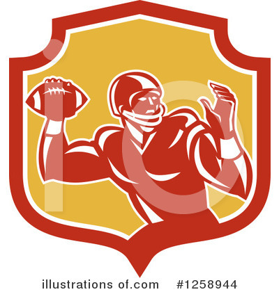 American Football Clipart #1258944 by patrimonio