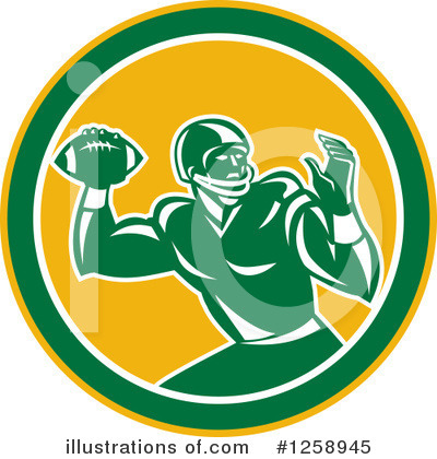 American Football Clipart #1258945 by patrimonio