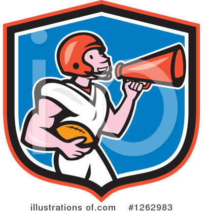 American Football Clipart #1262983 by patrimonio