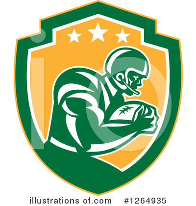 American Football Clipart #1264935 by patrimonio