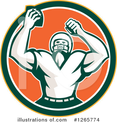 American Football Clipart #1265774 by patrimonio