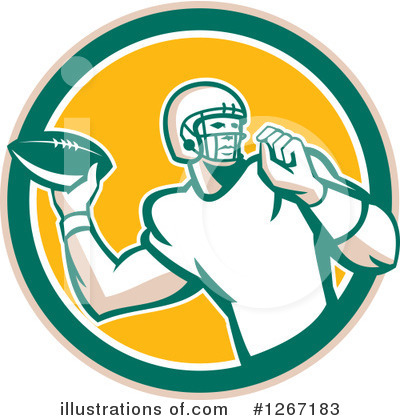 American Football Clipart #1267183 by patrimonio