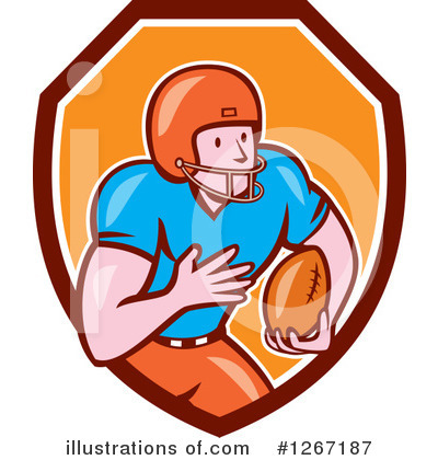 American Football Clipart #1267187 by patrimonio