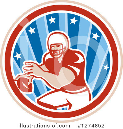 American Football Clipart #1274852 by patrimonio