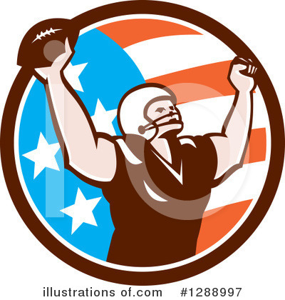 American Football Clipart #1288997 by patrimonio