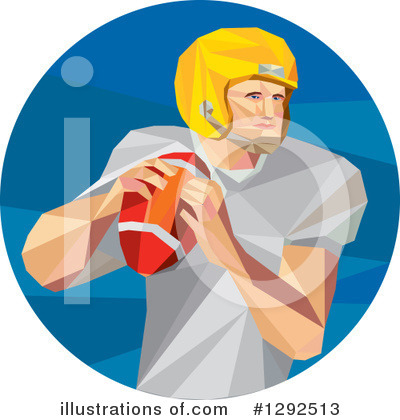 Football Player Clipart #1292513 by patrimonio
