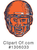 American Football Clipart #1306033 by patrimonio