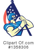 American Football Clipart #1358306 by patrimonio