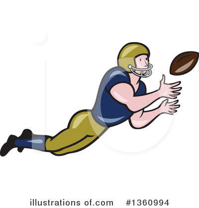 American Football Clipart #1360994 by patrimonio