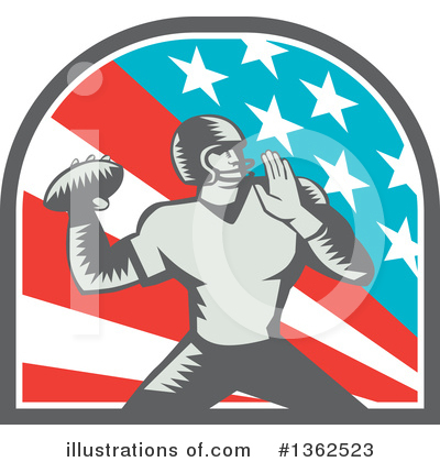 American Football Clipart #1362523 by patrimonio