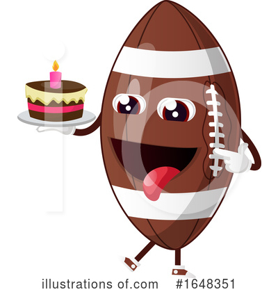 Royalty-Free (RF) American Football Clipart Illustration by Morphart Creations - Stock Sample #1648351