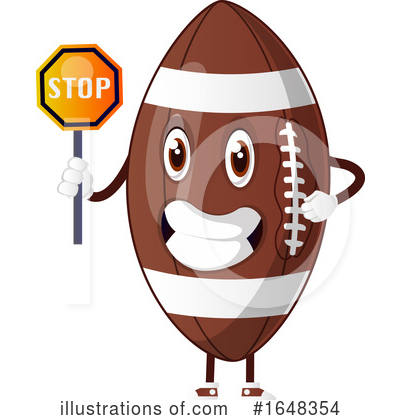 American Football Clipart #1648354 by Morphart Creations