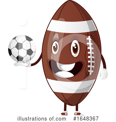 American Football Clipart #1648367 by Morphart Creations
