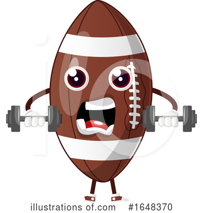 American Football Clipart #1648370 by Morphart Creations
