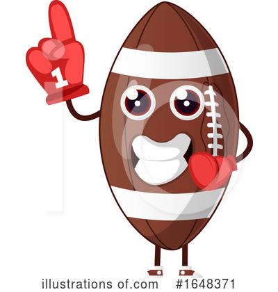 American Football Clipart #1648371 by Morphart Creations