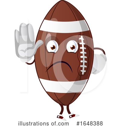 American Football Clipart #1648388 by Morphart Creations