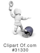 Royalty-Free (RF) American Football Clipart Illustration #31330