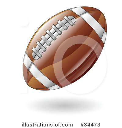 American Football Clipart #34473 by AtStockIllustration