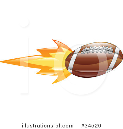 American Football Clipart #34520 by AtStockIllustration