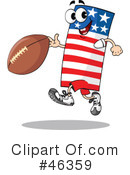 Royalty-Free (RF) American Football Clipart Illustration #46359