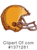 American Football Helmet Clipart #1371261 by patrimonio