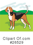 American Foxhound Clipart #26529 by David Rey